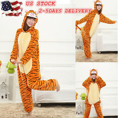 Tiger Cosplay Costume Fancy Dress Animal Pajamas Women Kigurumi Sleepwear
