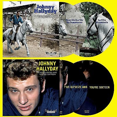 Johnny Hallyday - 45 Tours Picture Discs N° 5 & 6