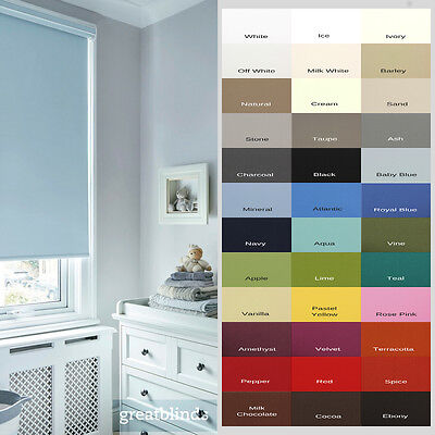 Made To Measure Child Safe Thermal Blackout Roller Blinds - Up To 300cm Width*