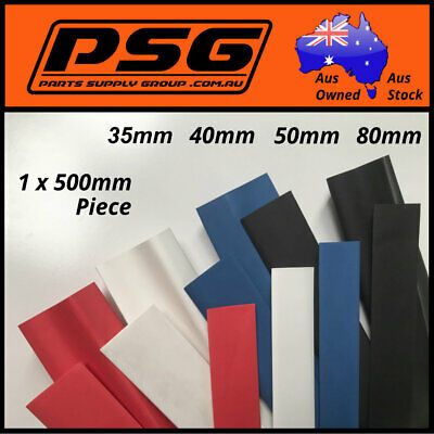 Heat Shrink 600mm of tubing 40mm 50mm 80mm Red White Blue Black