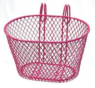 Brand new Girls Bike Basket Steel Wire Mesh Hook On Type 24 x 18 x 15