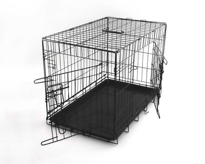 Dog Puppy Cage Small Medium Large Crates Pet Carrier Training Folding Metal Cage
