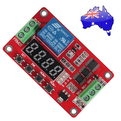 AU 12V DC CH1 Self-lock Relay PLC Cycle Timer Module Delay Time Switch NSW