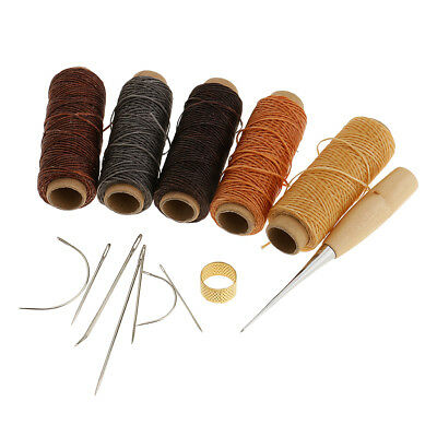 14 Pieces/Set Leather Waxed Thread Sewing Thread Needles Stitching Tools Kit