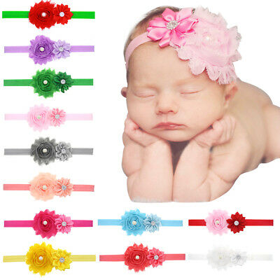 Newborn Kid Baby Girl Toddler Hair Band Headwear  Flower Headband Multicolor