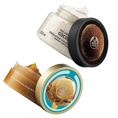 The Body Shop Scrub Wild Argan Oil Körperpeeling Arganöl Kokos Coconut 250Ml