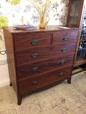 Regancy Flame Mahogany Chest of Drawers
