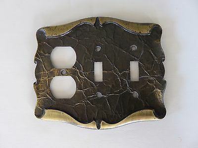 Vintage Amerock Carriage House Brass Light Switch & Outlet Plate Cover 2 Toggle