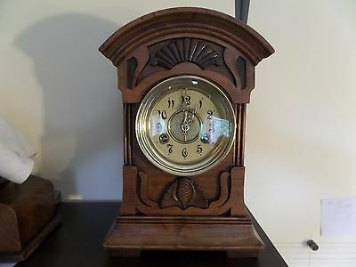 c1890 FULLY RESTORED LARGE JUNGHANS 14 DAY MANTEL CLOCK  88 PHOTO DIARY OF WORK