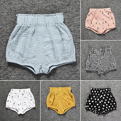 Kids Baby Infant Girl High Waist PP Pants Shorts Bloomers Ruffle Dress Underwear