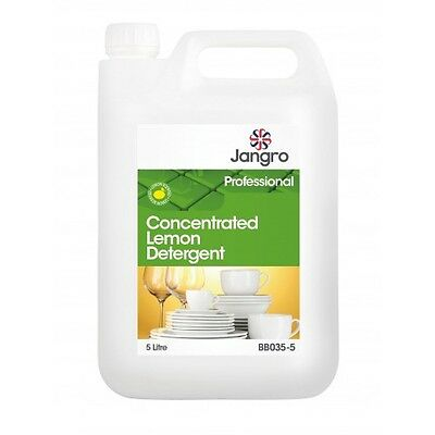 Concentrated Washing Up Liquid Jangro Lemon Detergent 1 x 5L inc fast p&p