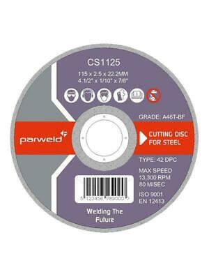 "Parweld 125mm (5"") Super Extra Thin 1mm Slitting Metal Cutting Discs"