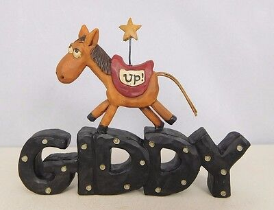Giddy Up - New resin block with a horse and star - Blossom Bucket #2882