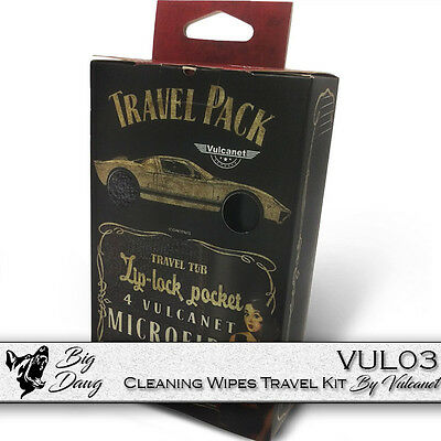 Vulcanet Motorcycle Cleaning Wipes New Travel Kit Waterless Cleaning System