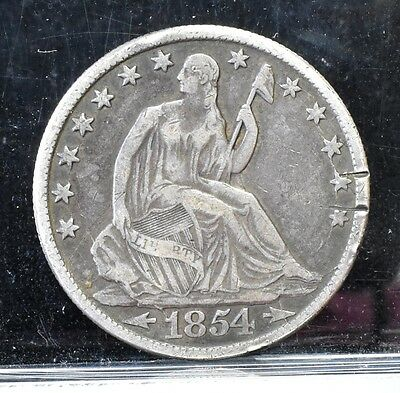 1854-O Liberty Seated Half Dollar - Fine Details (#7824)