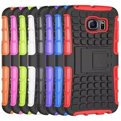 10/Lot Hybrid Rugged IMPACT Kickstand Gel Case Cover for SAMSUNG GALAXY S 6 Edge