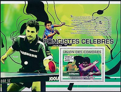 [BIN10094] Comores 2009 Table tennis - Famous athlets Good sheet very fine MNH