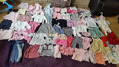 huge baby girl 3 to 6 and 6 to 9 bundle 66 items some new good makes