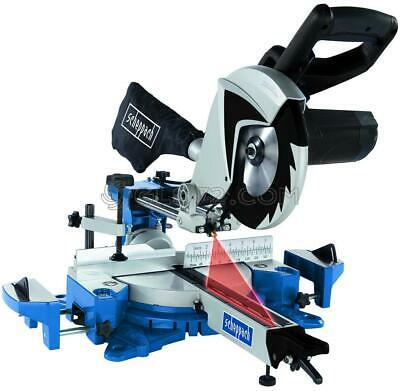 230V Sliding Mitre Saw Wood Plastic Alluminium Steel 2150W 255 Scheppach Hm100Mp
