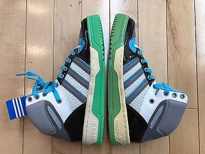 0aa2a4310ec Adidas Attitude Hi White Black Green Grey Conditional Women s Wmns Sz 5.5  768518
