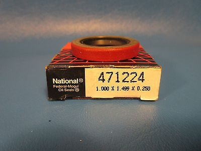 National, 471224 Oil Seal, Dual Lip with One Spring, 1'' x 1.499'' x .25''