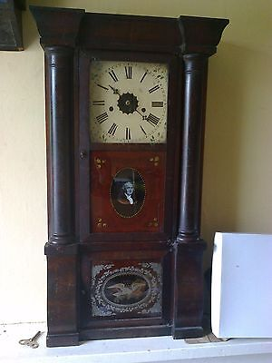 ANTIQUE American 8 Day Empire   CLOCK