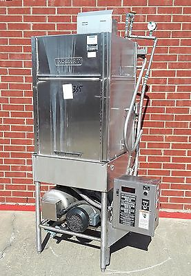 Hobart AM-14T Pass-Thru Dishwasher w/ Booster