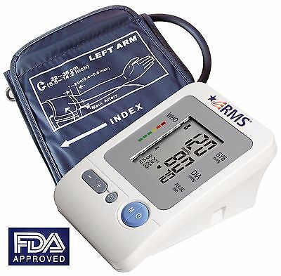 RMS Automatic Arm Blood Pressure Monitor w Heart Rate Monitor w Cuff (L, M or S)