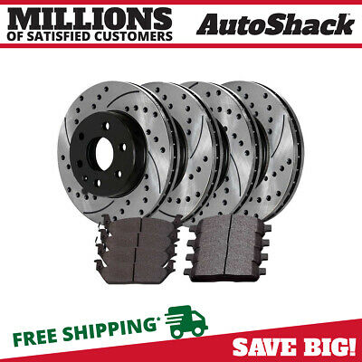 Front Rear (4) Performance Rotors (8) Ceramic Brake Pad For 2004-2008 Ford F-150