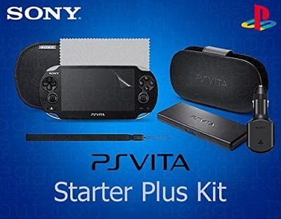 OFFICIAL PS Vita 7 in 1 Starter+ Kit inc Case/Pouch/Card Holder/Car Charger+More