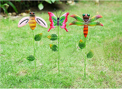 Metal Cut Butterfly Animal Plant Stake Garden Outdoor Lawn Yard Patio Home Decor