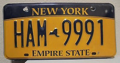 2012 New York  Empire State Gold License Plate Ham 9991 Used