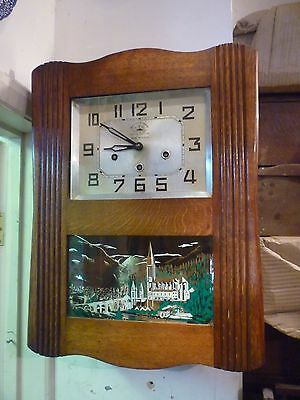 Rare Ave Maria Art Deco Twin Chime Wall Clock Full Working Order Westminster