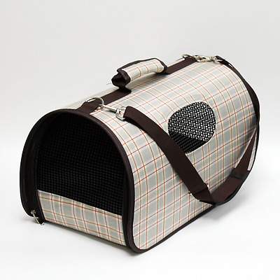 Deluxe Pet Carrier / Travel Bag with Shoulder Strap, Folds Flat, 42cmL x 25cmH