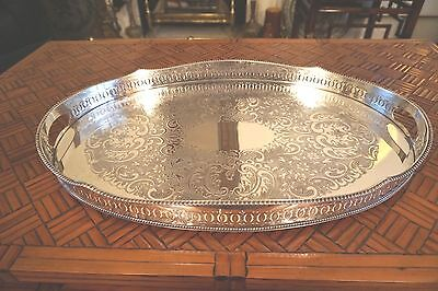 Silver Plated Tray, Extra Large, Very Good Condition, Made in England