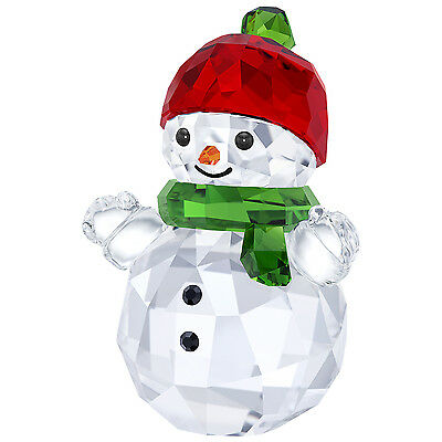 Snowman With Red Hat 2017 Holiday Christmas Swarovski Crystal #5288205