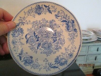 """Vintage Taylor Smith Plate Japanese Style Painting Blue 6"""""""