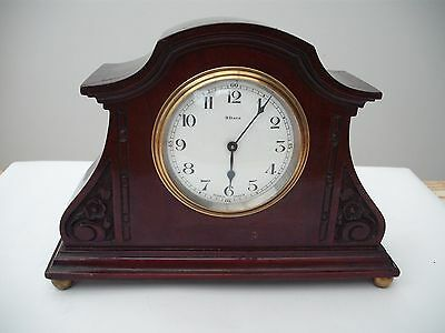 Antique French 8 Day Lever Movement Carved Mantle Clock