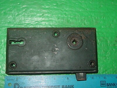 A  Vintage  Iron - Large Antique Rim Lock With Key - Early  Victorian