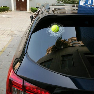 Auto 3D Crazy Tennis Ball Hit Windowa/Body Creative Sticker Windshield Decal US
