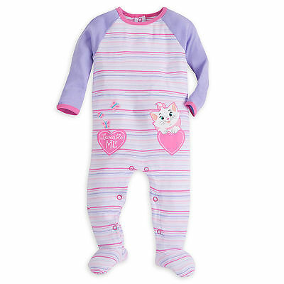 NWT DISNEY Marie Aristocats Stretchie Sleeper for Baby Size 12-18 Month SO CUTE!
