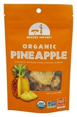 Mavuno Harvest Fair Trade Organic Dried Fruit, Pineapple, 2 Ounce (Pack of 6)