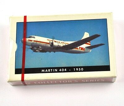 TWA Airlines USA Spielkarten Flugzeug Airline Playing Cards Martin 404 1950