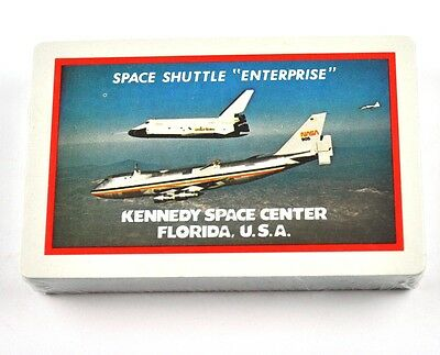 Space Shuttle Enterprise USA Spielkarten Flugzeug Playing Cards Kennedy Center