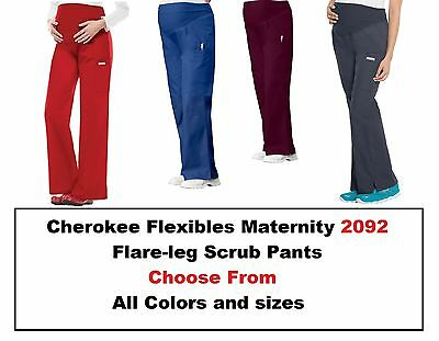 Cherokee Maternity Scrubs Pro Flexibles 2092 Knit Waist pull Pants Regular NWT