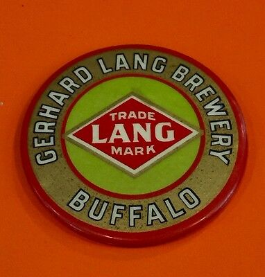 Gerard Lang Brewery Advertising Mirror Buffalo NY Pocket