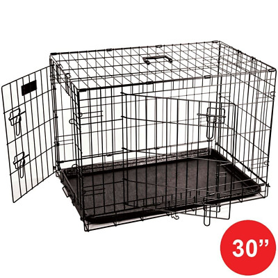 Home Discount Pet Cage Metal Folding Dog Puppy Animal Crate Vet Car Training Car