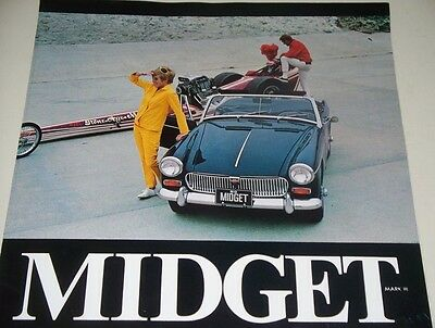 1968 Mg Midget Mark Iii Dealers Car Sales Brochure, 6 Pg Foldout, Exc Condition