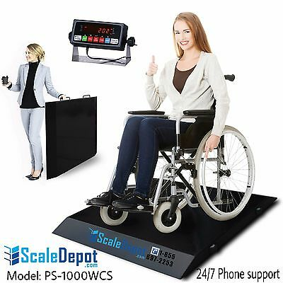 NEW 1000lbs Light weight Portable Wheelchair / Drum / floor Scale Local Pickup