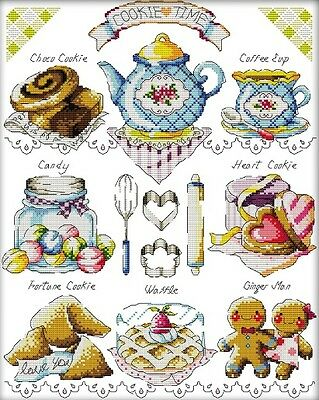 Teacake. Kitchen. Home. Baking. 14CT counted cross stitch. Craft brand new